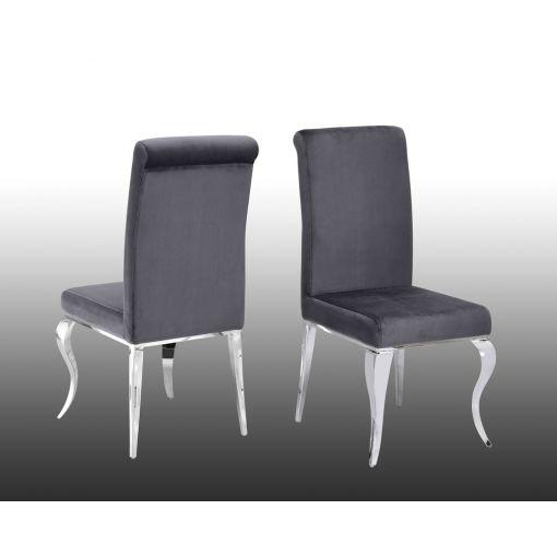 Theresa Grey Velvet Dining Chair