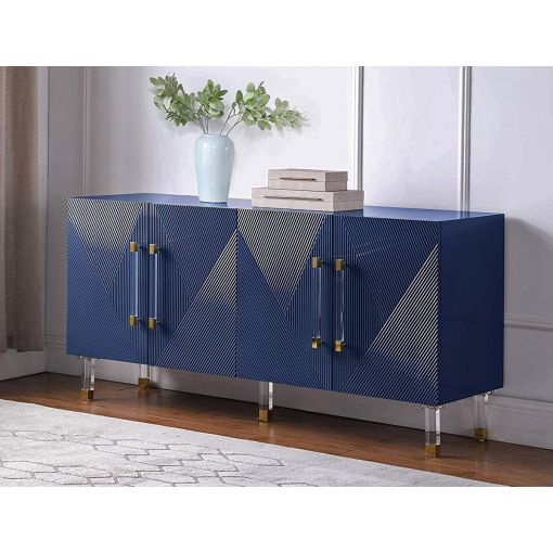 Tyrell Navy Blue Lacquer Sideboard