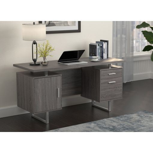 Vagan Rustic Grey Office Desk