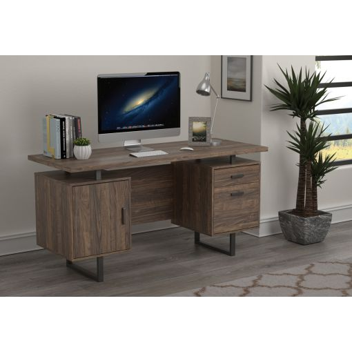 Vagan Rustic Walnut Office Desk
