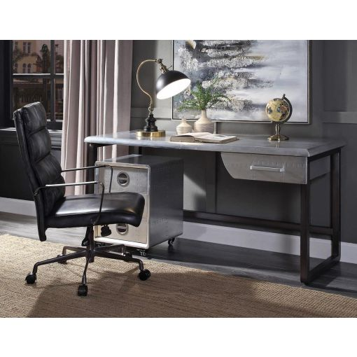 Vincenzo Aluminum Industrial Office Desk