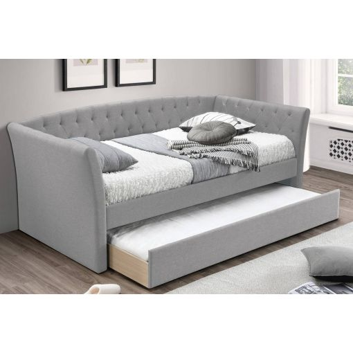 Watson Tufted Fabric Daybed With Trundle