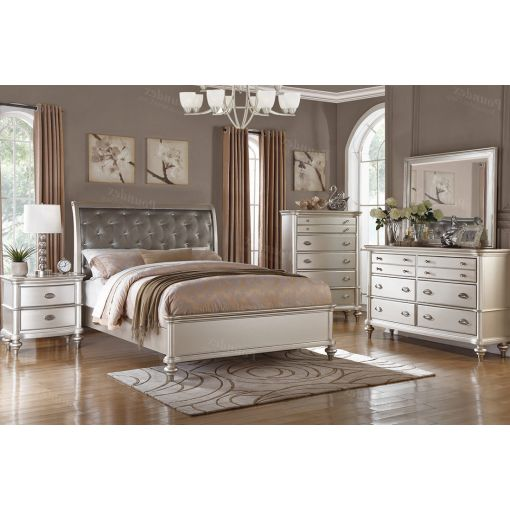 Willow Silver Finish Bedroom Furniture