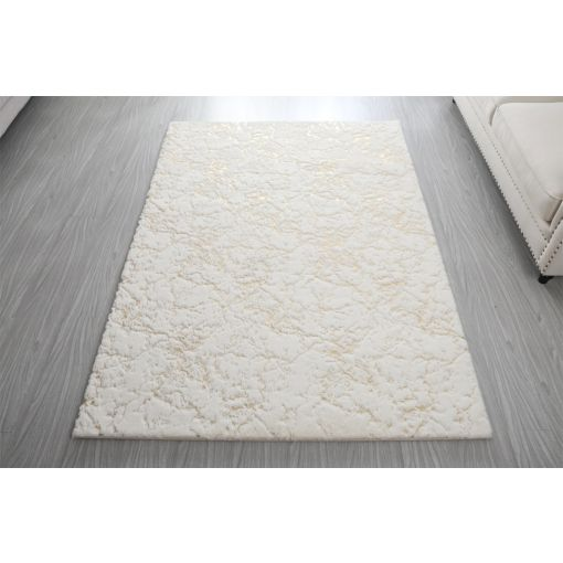 Wisteria Scattered White With Gold Rug