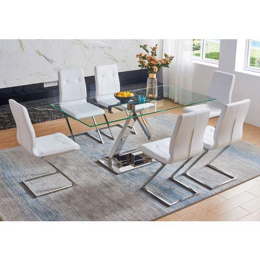 Zizi Glass Top Modern Table