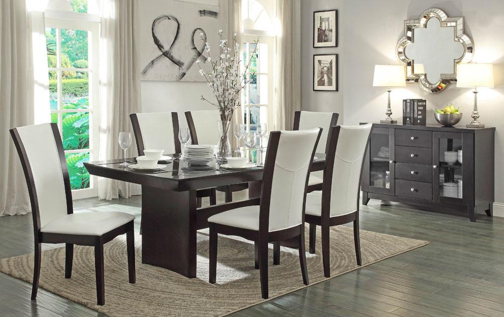 Daisy Contemporary Formal Dining Table Set, Modern Formal Dining Room Set