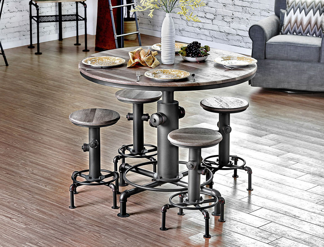 Picture of: Fire Hydrant Industrial Pub Table Set
