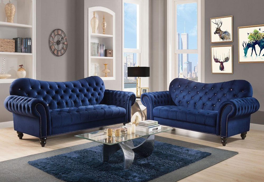 Super Holder Navy Blue Chesterfield Sofa Gmtry Best Dining Table And Chair Ideas Images Gmtryco