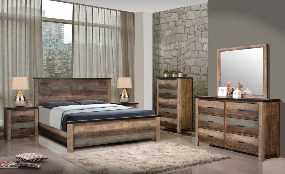 Kalen Rustic Wood Bedroom Furniture