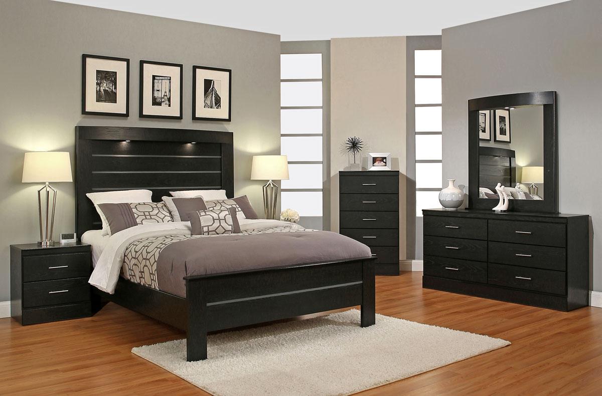 Modwell Black Modern Bedroom Furniture