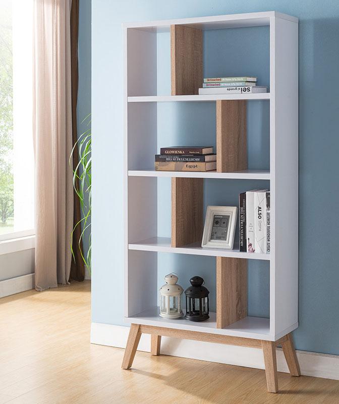 Oslo Mid Century Modern Bookcase