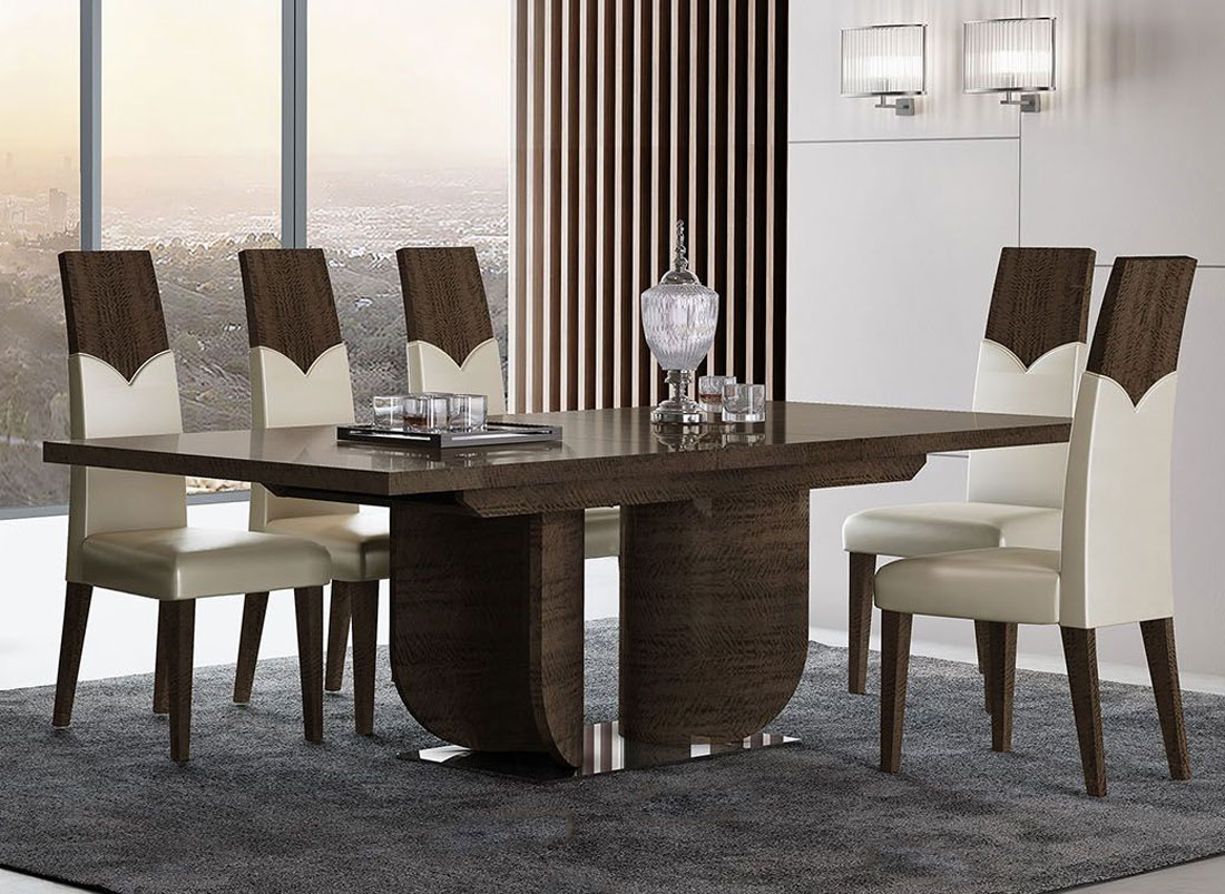 Prestige Modern Dining Room Table, Italian Contemporary Dining Room Sets