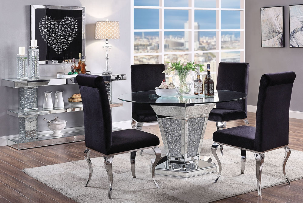 Rylan Mirrored Round Table