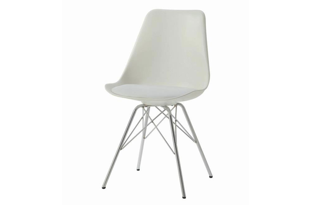 Texas Contemporary Dining Chair White, White Contemporary Dining Chairs